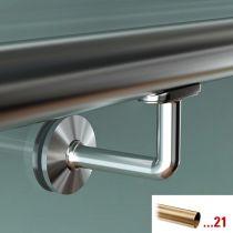 GFHR.S70 Κουπαστή Ø 38.1mm, γυαλιού, χρώμα μπρούτζος ματ, 2500mm