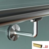 GFHR.S71 Κουπαστή Ø 38.1mm, γυαλιού, χρώμα μπρούτζος, 2500mm