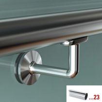 GFHR.S80 Κουπαστή Ø 38.1mm, γυαλιού, χρώμα χρώμιο γυαλιστερό, 5000mm