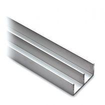 GFPR.002 Προφίλ αλουμινίου άνω οδηγός συρόμενης πόρτας ντουλαπιού, αλουμίνιο ανοδιωμένο, 2000mm
