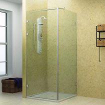 GFSC.S11 Καμπίνα ντους γωνία -2 πόρτες, 8mm, χρώμα χρώμιο γυαλιστερό(max.90x195cm, 35Kg)