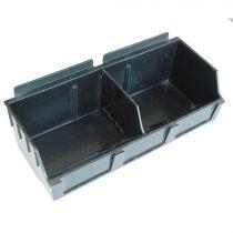 BX102-B Καλάθι αποθήκευσης 130x290x97mm μαύρο, πλαστικό, storbox