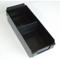 BX203-B Καλάθι αποθήκευσης 335x140x95mm μαύρο, πλαστικό, selfbox