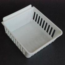 BX401-W Καλάθι αποθήκευσης 160x140x83mm λευκο, πλαστικό, cratebox