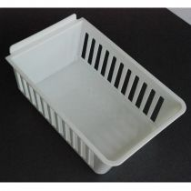 BX402-W Καλάθι αποθήκευσης 224x140x98mm λευκο, πλαστικό, cratebox