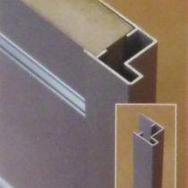 KP304 Προφίλ 2500mm 29x15x8x5,5x22,5 διπλής γωνίας, καθαρό αλουμίνιο