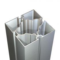 MEGAC Προφίλ κολώνα 91x91mm, με 4 κινησιές, αλουμίνιο ανοδιωμένο