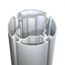 MEGAR Προφίλ κολώνα Φ91mm, με 4 κινησιές, αλουμίνιο ανοδιωμένο