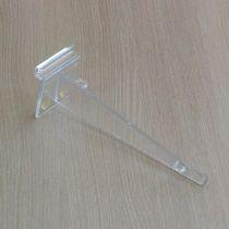 PF128 Βάση γυάλινου ραφιού 260mm, πάχος 4mm, πλακέ, διαφανής, ακρυλική