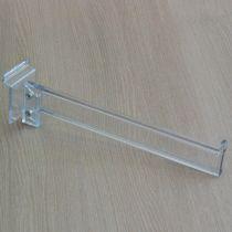 PF143 Βάση ραφιού 300mm, διαφανής, με στοπ, οβάλ σωλήνας, ακρυλική