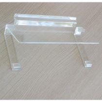 PF147 Ράφι ίσιο 250x100mm, πάχος 4mm, με κεκλιμένη βάση καθρέπτη, διαφ. ακρυλ.