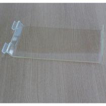 PF149 Ράφι με κλίση 200x300mm, πάχος 4mm, με χείλος, διαφανές, ακρυλικό