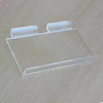 PF151 Ράφι με κλίση 200x100mm, πάχος 4mm, 10° και χείλος 20mm,διαφανές, ακρυλικό