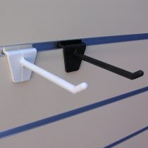 PF161-2 Αγκιστρο μονό 100mm λευκό, πλαστικό