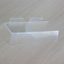 PF174 Ράφι ίσιο 230x100mm, πάχος 4mm, με θήκη τιμών 50mm, διαφανές, ακρυλικό