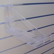 PF176-1 Βάση προβολής προιόντων 290mm, πάχος 4mm, για πίνακα μεσαία, διαφανής, ακρυλική